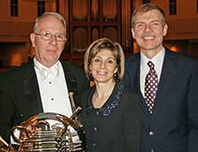 David Wick, JoAnn Falletta and Kenneth Fuchs