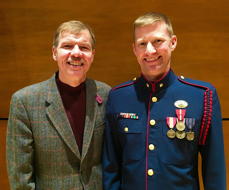 Commander Adam R. WIlliamson with Kenneth Fuchs